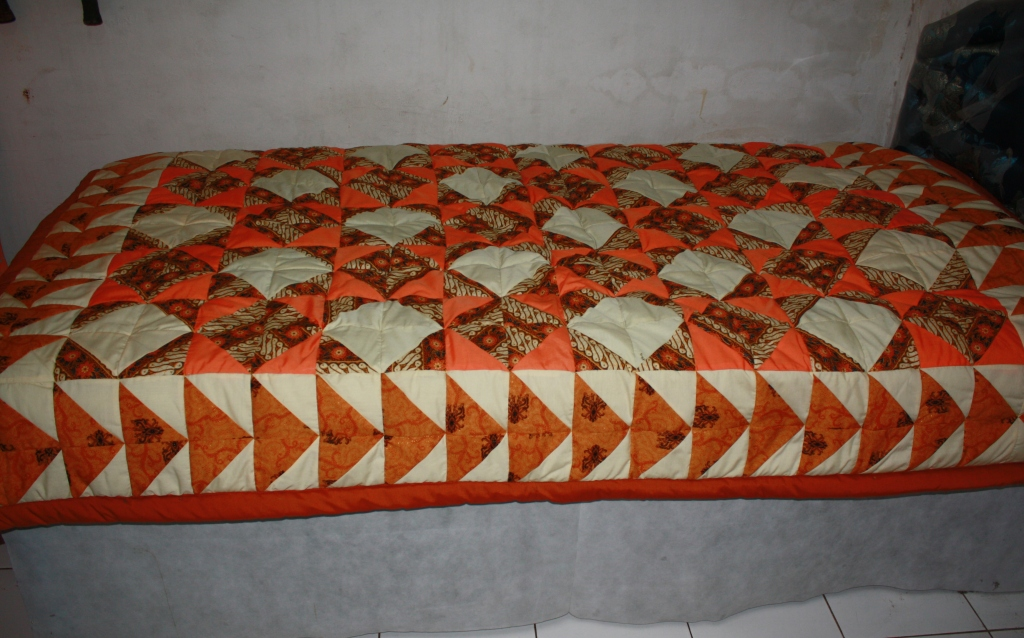 Bed cover batik perca