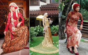 Kebaya pengantin muslimah